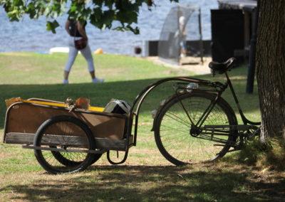 Cykel m släp