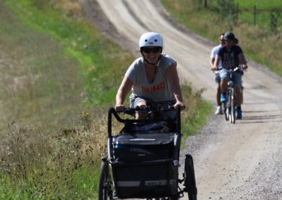 Elcykel m vagn