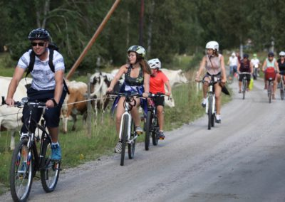 Massa cyklister m kor